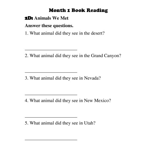2nd Grade: Entire School Year Curriculum