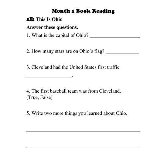 2nd Grade: Book Reading