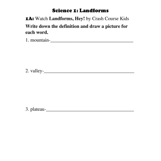 2nd Grade: Month 1 Curriculum