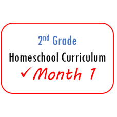 2nd Grade Month 1 Homeschool Curriculum