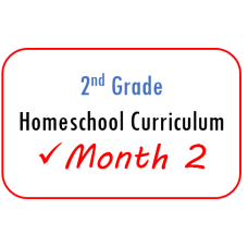 2nd Grade Month 2 Homeschool Curriculum