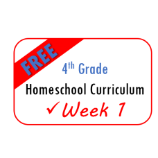 FREE 4th Grade Week 1 Homeschool Curriculum